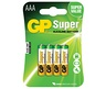 GP BATTERY SUPER 24A LR03/AAA /4