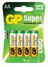 GP BATTERY SUPER 15A LR6/AA /4